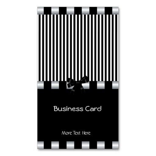 Business Card Elegant Art Deco Black White Silver
