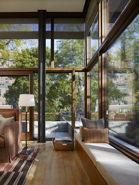Living Room Lake Shore Drive House by Wheeler Kearns Architects