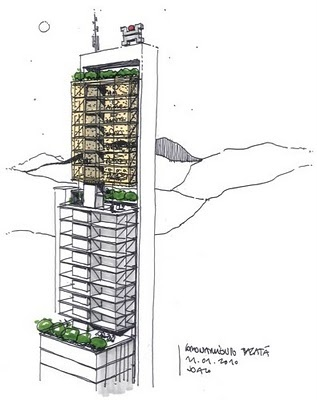 boceto del edificio http://www.bdbacata.com