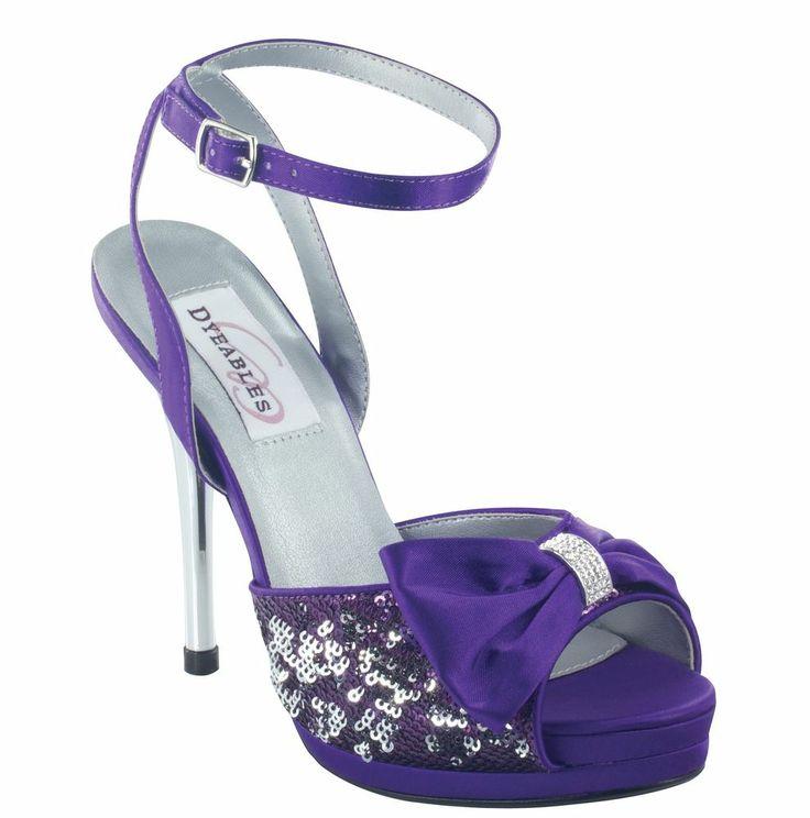 High heels shoes platform purple - photo#15