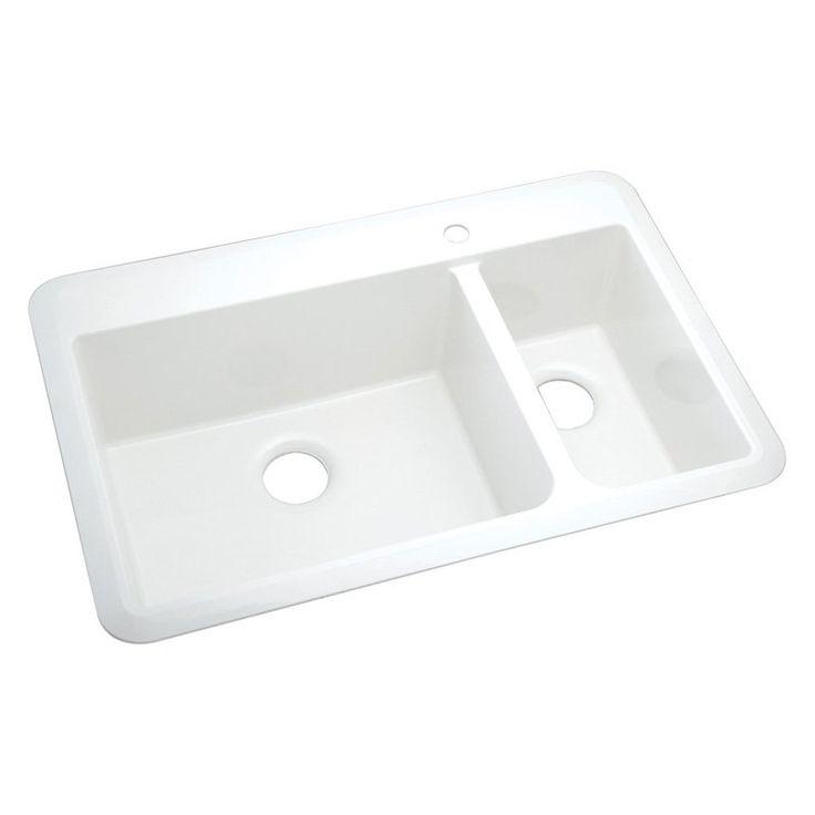 Sterling By Kohler Slope® 1043 1 Double Basin Drop In Kitchen Sink   1043