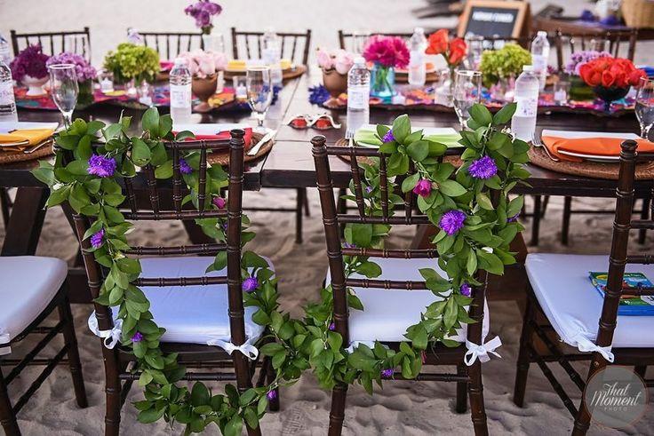 CBL153 wedding Riviera Maya laso para novios se puede usar decoración de sillas/ flowers decoration for chairs