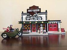 Dept. 56 Harley-Davidson Motorcycle Shop and Sidecar set