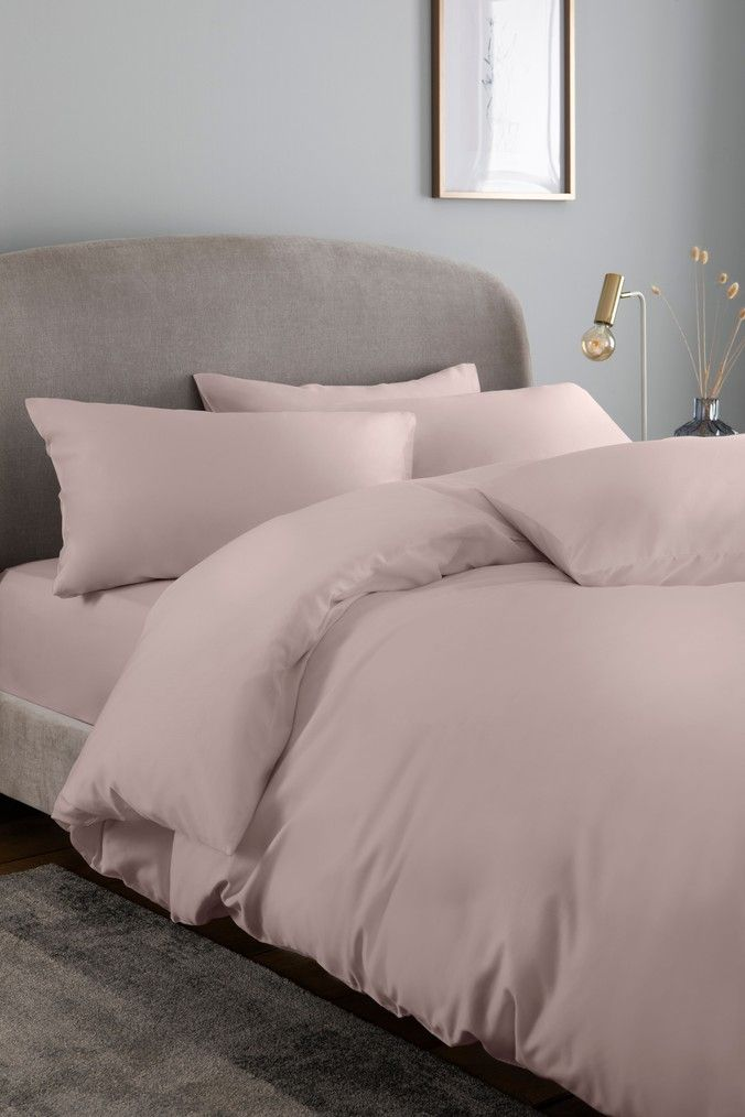 Next 300 Thread Count Collection Luxe Cooling Cotton Blend Bed Set Pink Pink Duvet Cover Light Pink Duvet Cover Pink Bed Covers