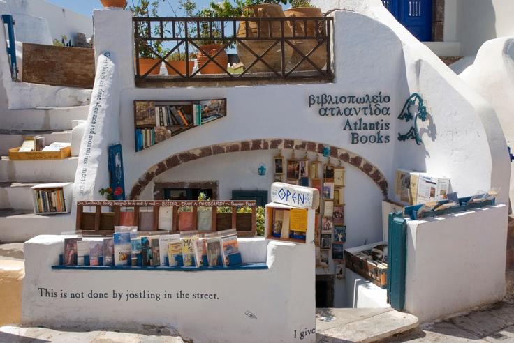 Bookstore in Oia, Santorini