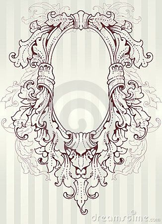 ornate oval frame drawing royalty free stock image baroque oval frame