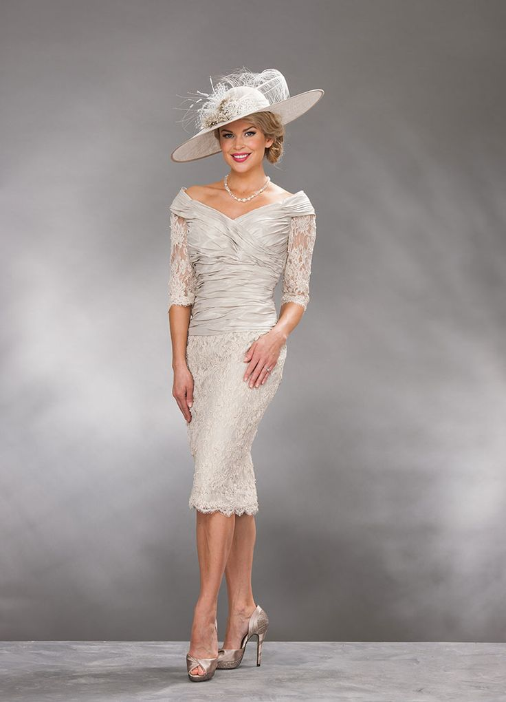 Ian Stuart short dress with lace skirt 491 - Catherines of Partick