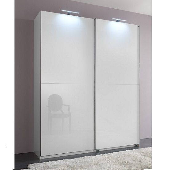 Add On D White Gloss Wardrobe With 2 Sliding Doors 1 Mirrors Highest standard furniture from a respected manufacturer,Material is mdf with white polyester shiny doors • Designed for enduring beauty • At an affordable price   Dimensions:   Width 150 cm cm x Depth 59 cm x Height 218 cm -  £699.95