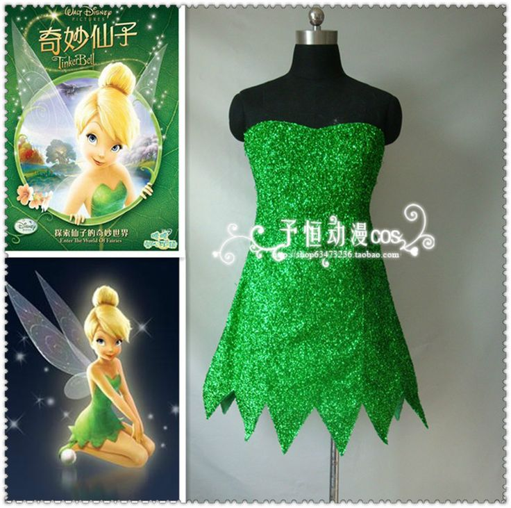13 best Tinkerbell images on Pinterest Tinkerbell, Costumes and - green dress halloween costume ideas