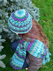 Ravelry: Cedar Forest Scarf and Beanie Set pattern by Panka's Patterns