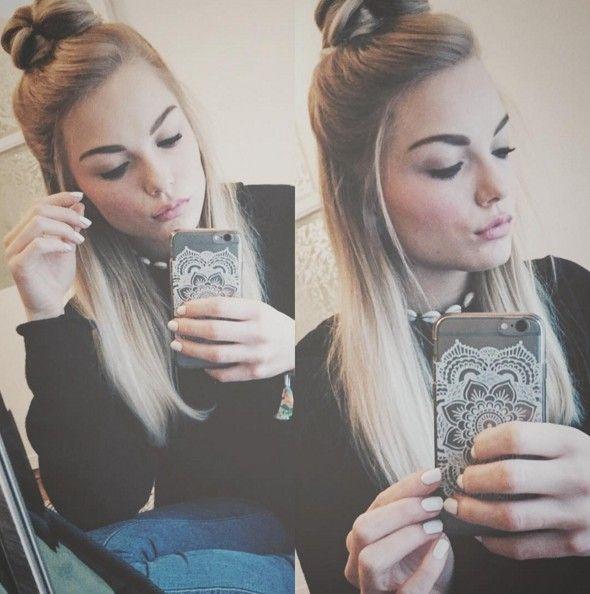 Cute Hairstyle - High Bun Updos #bun #longhair
