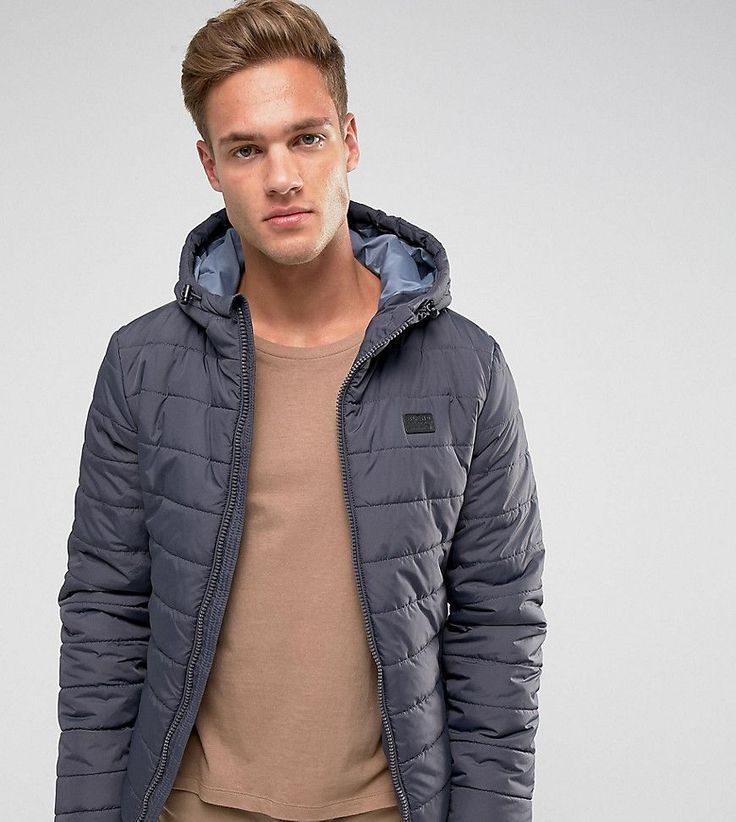 Blend Hooded Quilted Jacket - Gray