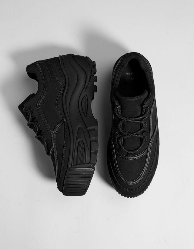 28cb5df4904e Monochrome platform Bershka sneakers Bershka platform fashion product  Zapatos bc3e1c