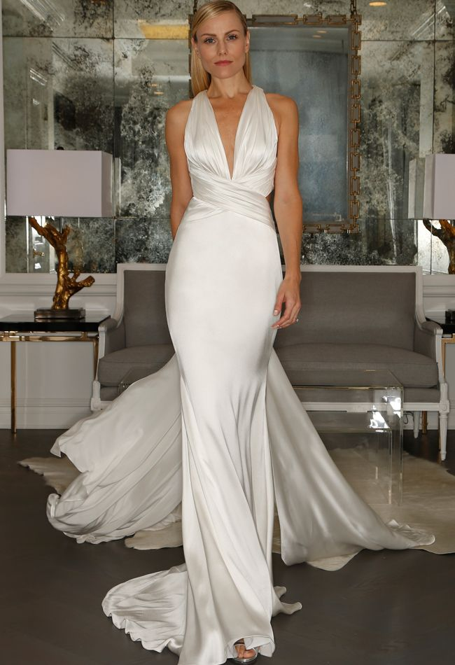25 cute silk wedding dresses ideas on pinterest boat neck dress romona kaveza collection wedding dresses fall 2015 blogeknot junglespirit Images