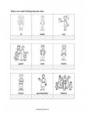 Dit taal werkblad en nog veel meer in het thema familie kun je downloaden op de…