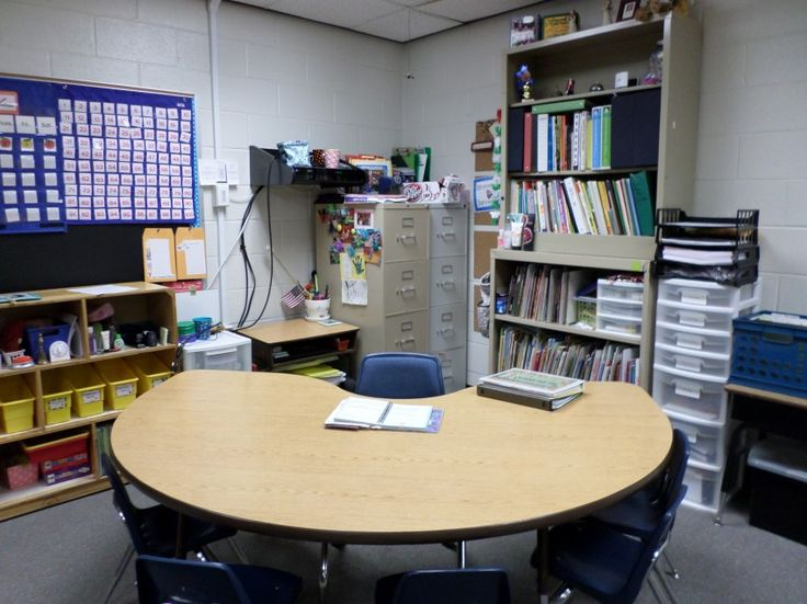 teacher's table instead of a desk: how to get rid of the teacher's desk and still stay organized