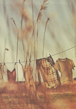 Fresh laundry, warm sun