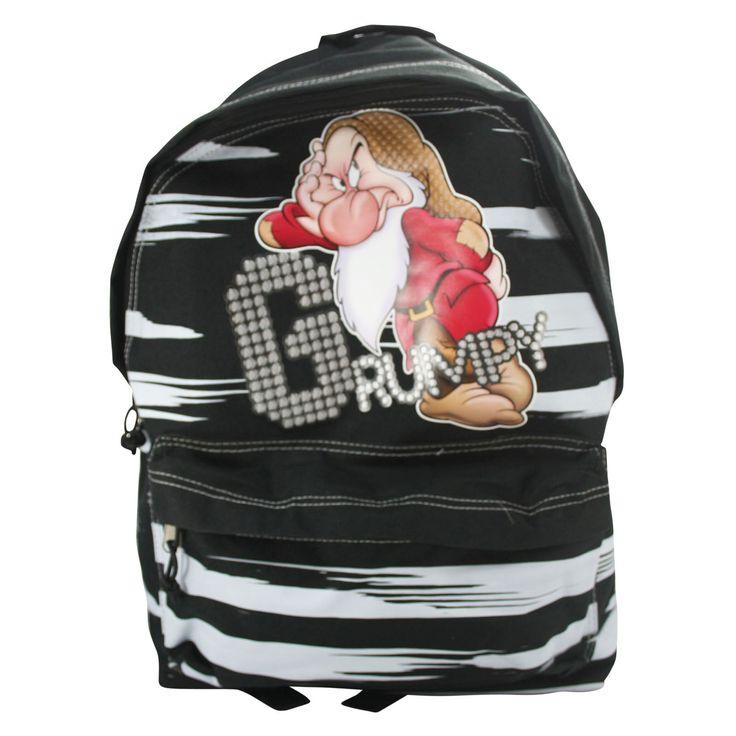 Disney Brontolo Zaino Sacca Scuola Passeggio Viaggio Idea Regalo Nero   eBay