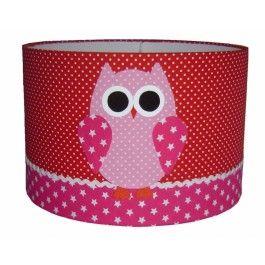 Designed 4 Kids lampenkap uil roze    Mooie lampenkap uil roze van het Nederlandse merk Designed 4 Kids. Afmeting: 30 cm doorsnede en 20 cm hoog.