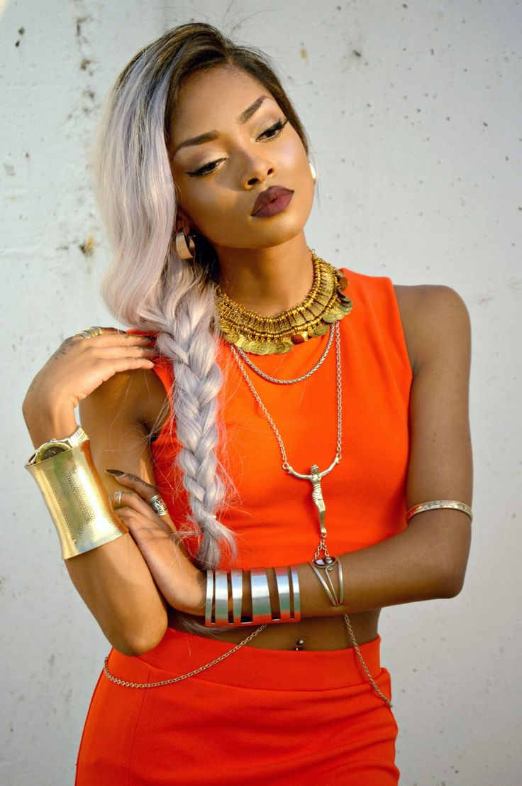 Stupendous 1000 Images About Colored Women With Colored Hair On Pinterest Short Hairstyles For Black Women Fulllsitofus