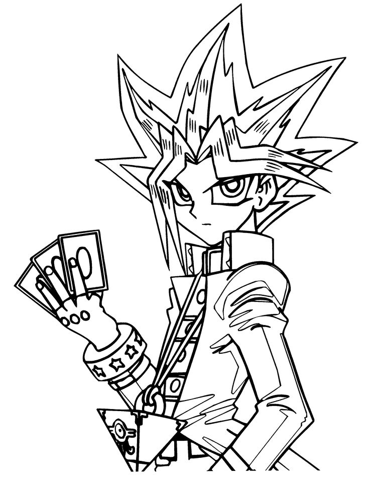 14 best Color Yu Gi Oh Yu Gi Oh coloring pages and lineart