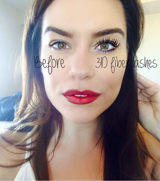 Before and after with 3D Fiber Lashes! 400% increase in ...