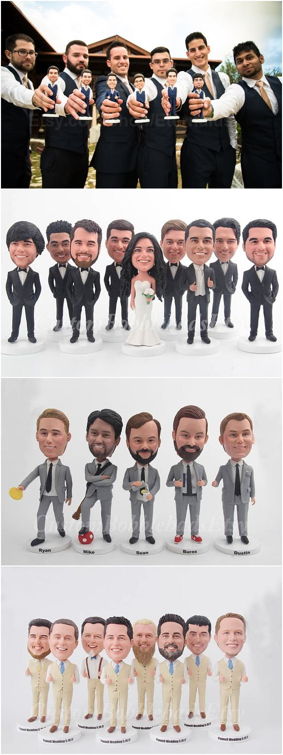 Funny Groomsmen Gift Idea - Personalized Groomsmen Bobblehead - Best Man Gift Idea - Grooms Men Gifts - Wedding Gift - Groomsmen Gift Set