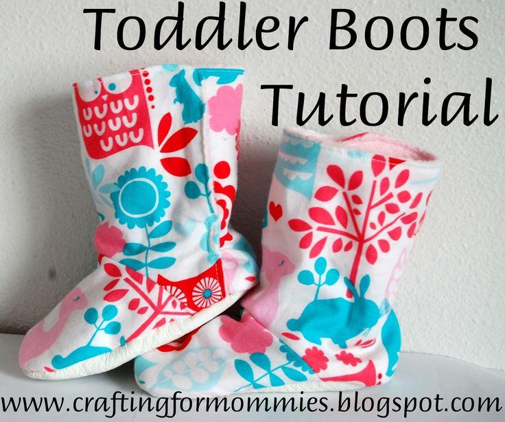 toddler boot tutorial