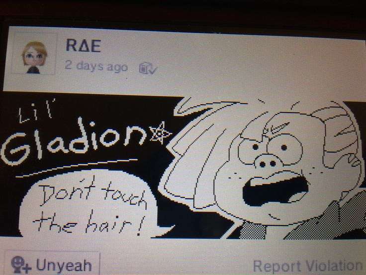 Saw this on Miiverse and thought it was hilarious (it's Gladeon from Pokemon and Lil' Gideon from gravity falls)