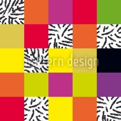 Plaid Go Wild designed by Matthias Hennig, vector download available on patterndesigns.com