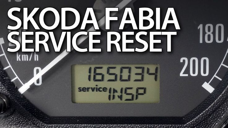 How to #reset #service reminder in #Skoda #Fabia I (INSP OIL #maintenance indicator) #cars