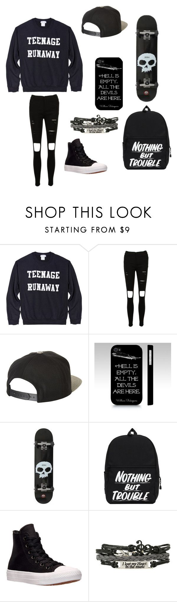 """Untitled #46"" by darksoul7 on Polyvore featuring Brixton, Samsung and Converse"