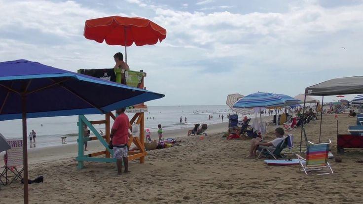 Курорты Америки: пляж на Восточном побережье и город Вирджиния Бич.