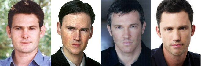 Another instance of quadruplicity (or technically triplicity) existing in the world of celebrity clonage occurs between Henry Thomas (L) and Jeremy Davies (Center Left). Loren Dean (Center Right) can easily be mistaken for either of these two, however he also sometimes bears a resemblance to Jeffrey Donovan (R) hence this otherwise perfect cloning trifecta plus one!