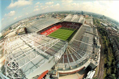 Old Trafford, home to Manchester United in Manchester, England
