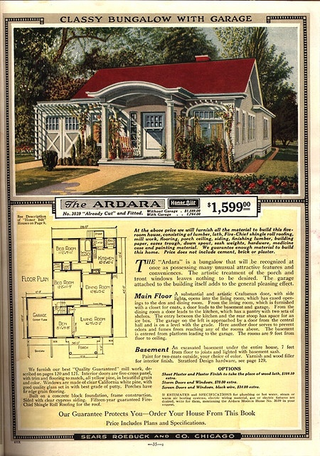 Wow! A vintage home WITH an attached garage! Sears Modern Home - The Ardara