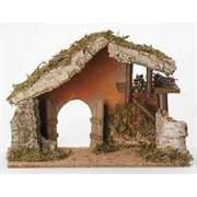 Religious Rustic Italian Style Christmas Nativity Stable