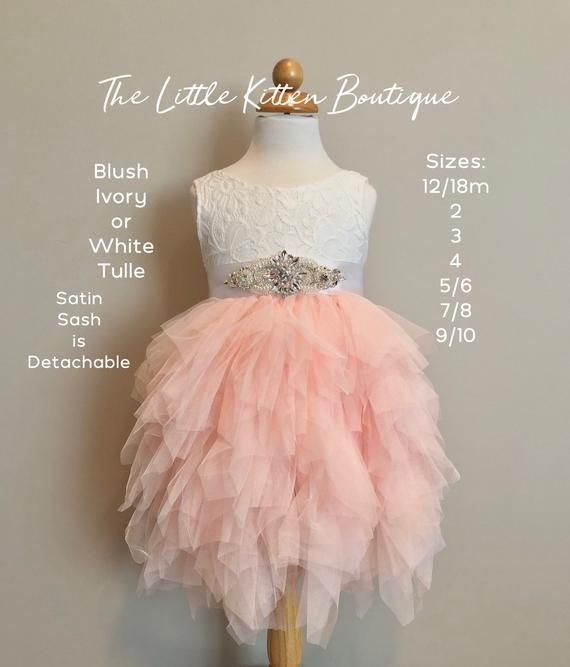 d946d6a782c6 Pink flower girl dress Blush Flower Girl White lace dress Pink tulle tutu  dress Pink Bridesmaids Birthday Dress Boho Flower Girl Rustic