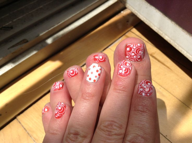 Nicole nail polish with stamping