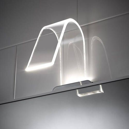 Additional Image For Curved LED Over Mirror Light Only Cool White Bathroom CabinetsBathroom