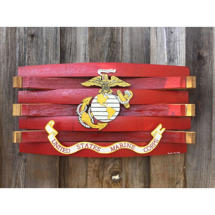 Semper Fidelis- Marine Barrel Art