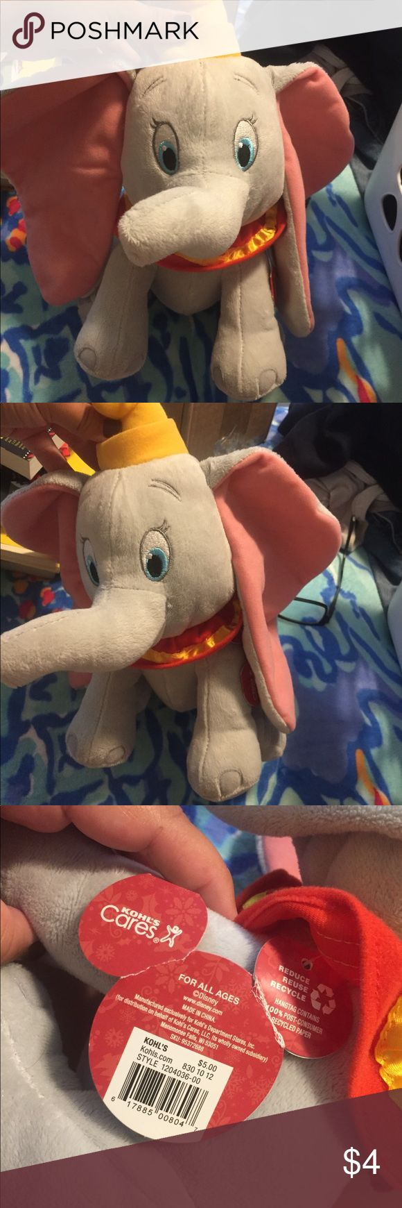 Disney Dumbo Plush Elephant Toy Great condition. Bought at Kohls. Disney Accessories