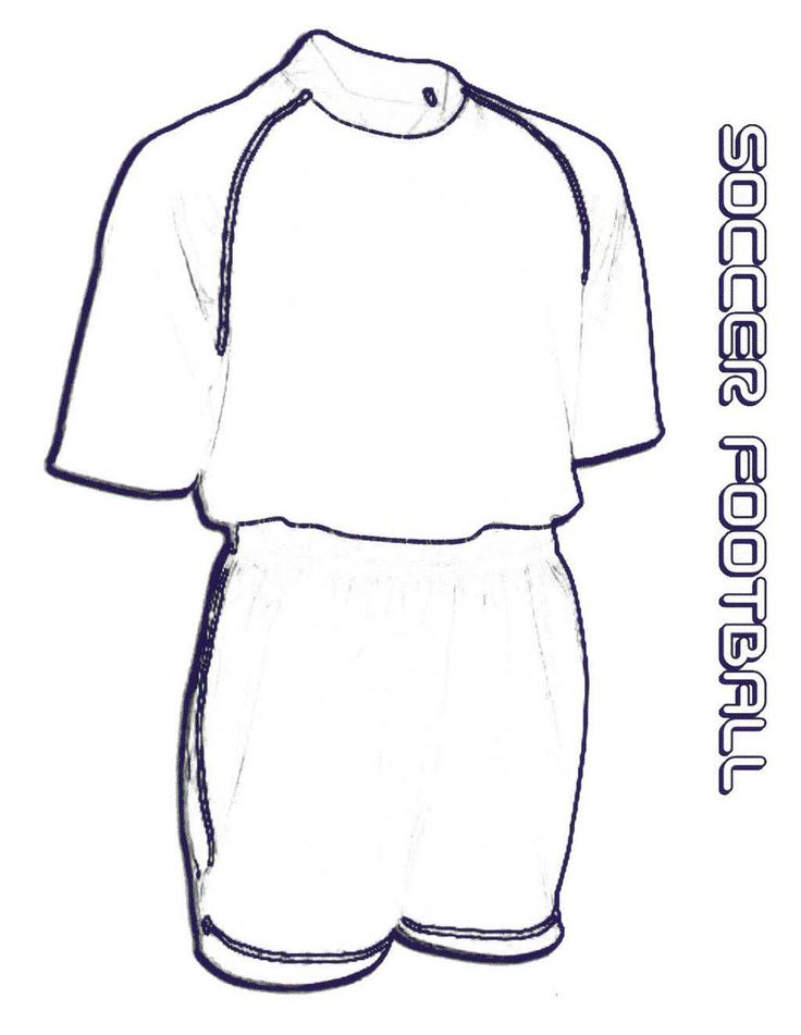soccer football jersey coloring sheet
