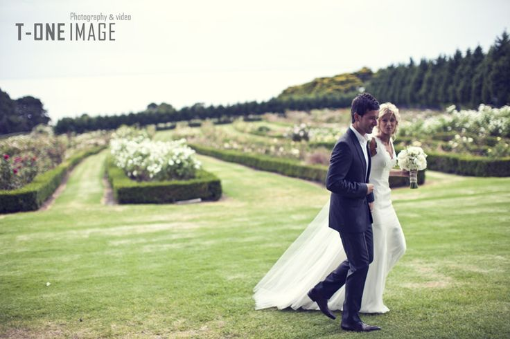 Rose Gardens& Bay Views are a  Wedding Photographers heaven! Location: Morning Star Estate Photography: T-one Image www.t-oneimage.com