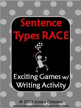 Sentence Types Race Game! Simple, compound, and complex sentences have never been so fun! This exciting whole class game has three rounds of complexity. You will also receive a writing practice sheet and game extension!