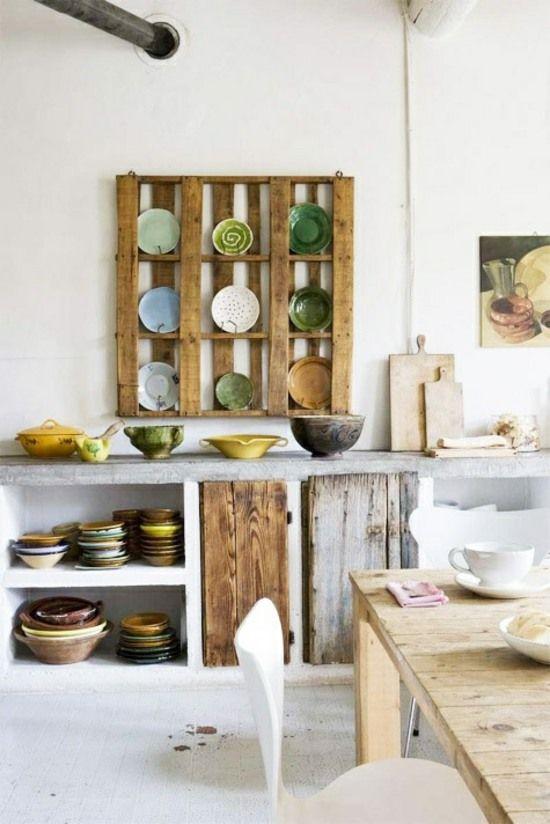 Küchen Regale selber bauen Ideen