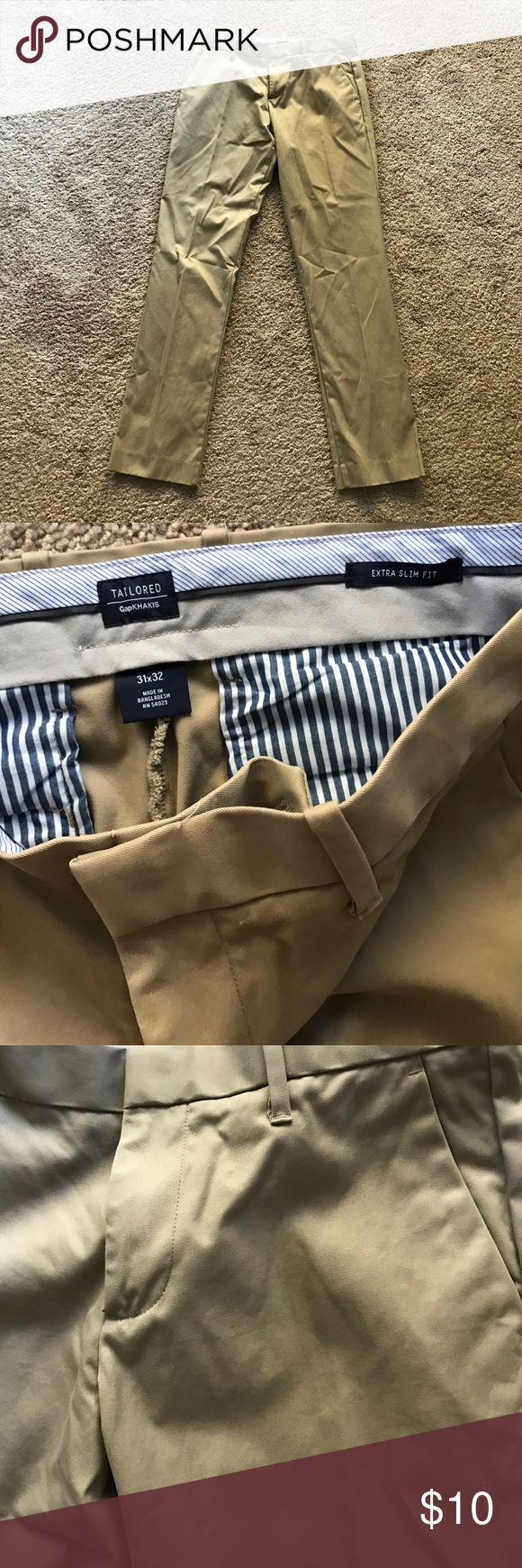 Men's Gap Extra Slim Fit Khakis Super nice quality, barley worn. GAP Pants Chinos & Khakis