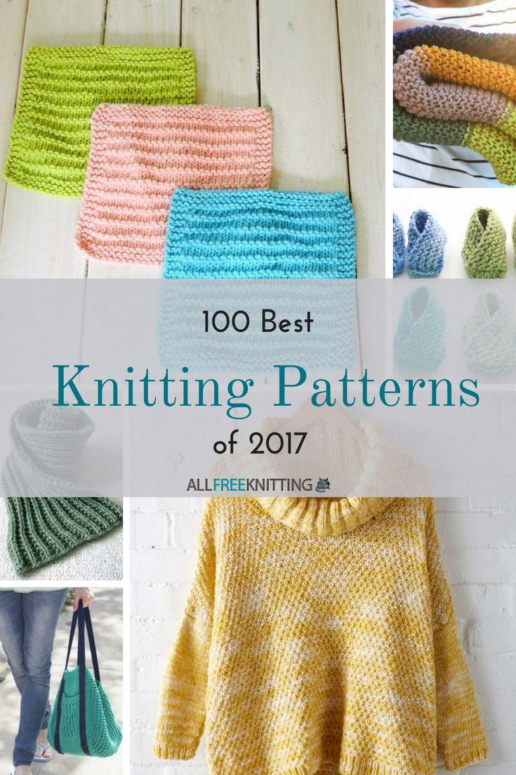 Check out the top 100 free knitting patterns of 2017. Did your favorite make the list?