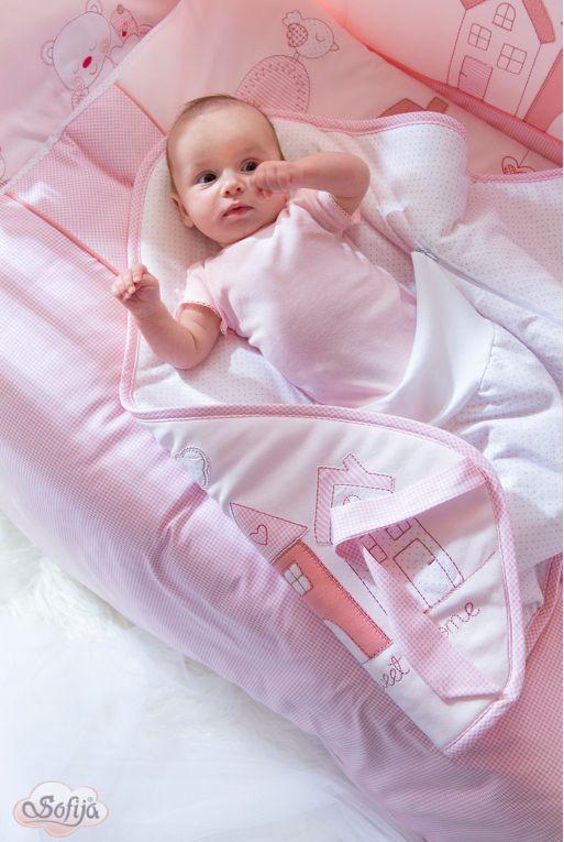 Rożek dla dzieci z kolekcji Muffi - kolor różowy   www.sofija.com.pl #dziecko #pościel #bawełna #pokójdziecka #kids #kinder #baby #bettwäsche #ребенок #номерребенка