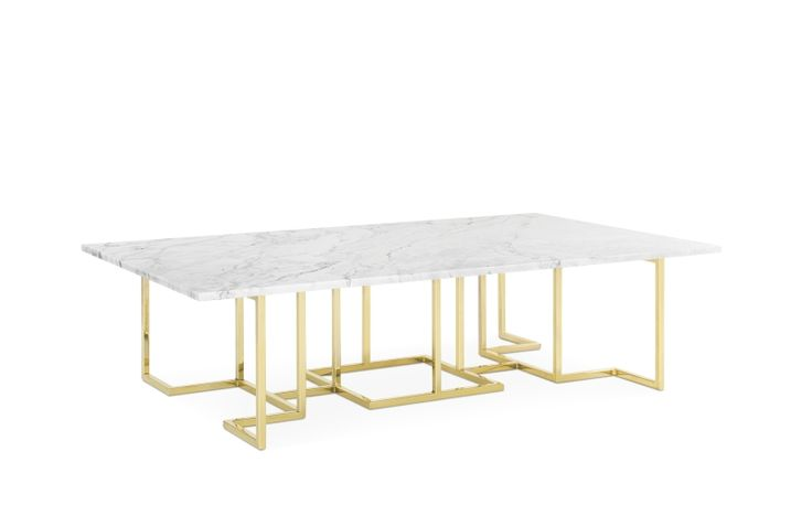 SEMTIMO COFFEE TABLE CARRARA / GOLD #BrahmansHome #BrahmansFiveElements #Brahmans #semtimo #coffeetable #table #marble #carrara #gold #metal #design #interiordesign #interiors #luxury #furniture #home #inspiratons